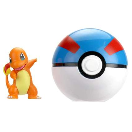 Wicked Cool Toys Pokémon Clip 'N' Go - Charmander & Great Ball Poké Ball