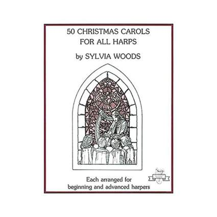woods music 50 christmas carols for all harps christmas sheet music