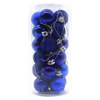 Dark blue ornaments