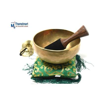 "10"" Hand-hammered Tibetan Singing Bowl"