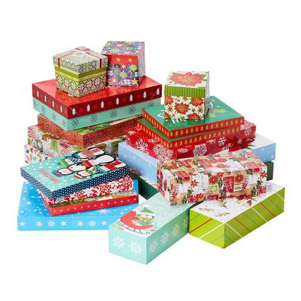 20 piece christmas gift box bundle