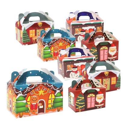 3d christmas house treat boxes