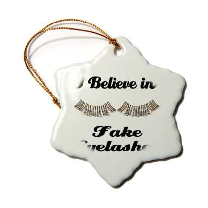 Fake eyelashes ornament