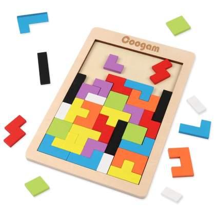 Wooden Tetris Puzzle Brain Teasers
