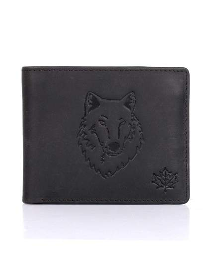 Karla Hanson Men's RFID Blocking Leather Wolf Wallet