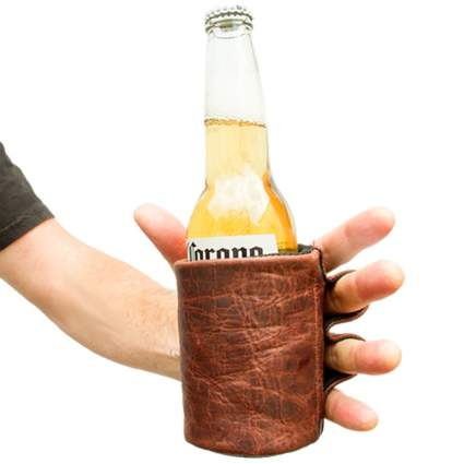 Rustic Leather Beer Glove