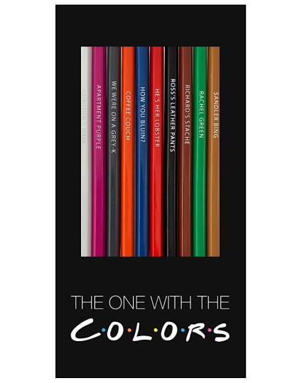 'The One With The Colors' FRIENDS TV Show Inspired Parody Colored Pencils