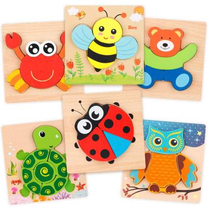 Wooden Jigsaw Puzzle Set