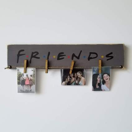 Rustic FRIENDS Picture Photo Display Hanger