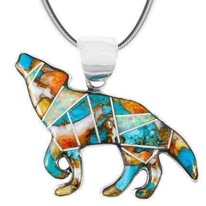 Coyote Wolf Pendant Necklace