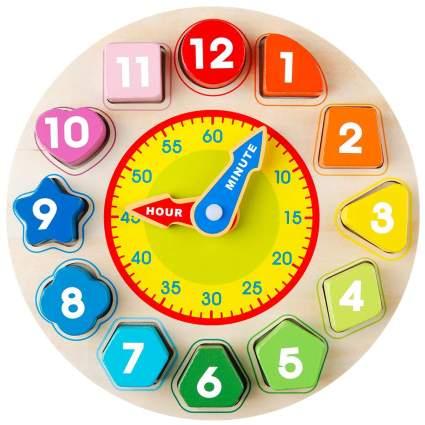 Coogam Wooden Shape Color Sorting Clock
