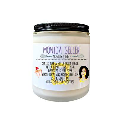 Monica Geller Friends TV Show Gift Candle