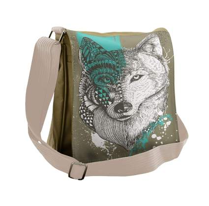 Lunarable Wolf Messenger Bag