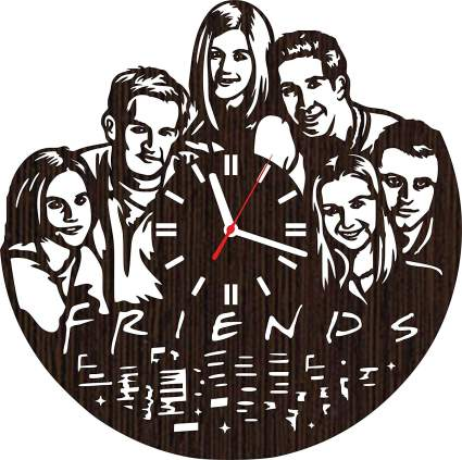 Wooden Wall Clock Friends tv Show Series Gifts