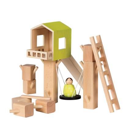 Montessori Style Wooden Building Playset