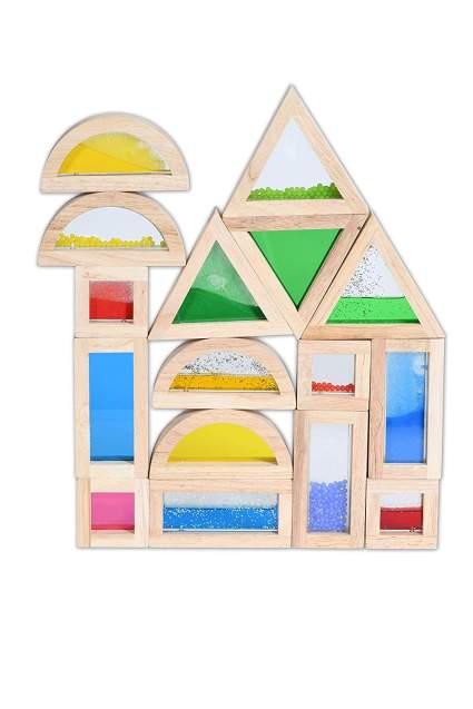 TickiT Sensory Blocks - Set of 16 - Colorful Montessori Stacking Blocks