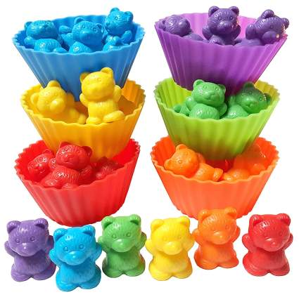 Montessori counting cups
