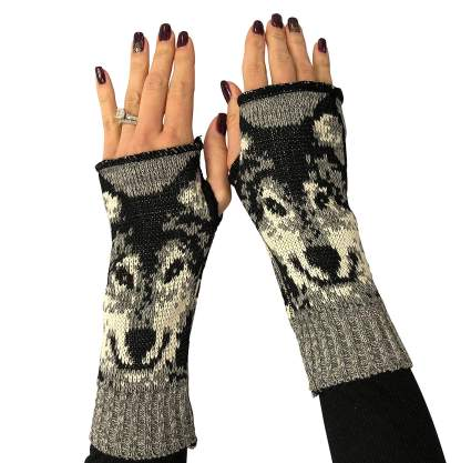 Recycled Cotton Hand Warmer Fingerless Gloves