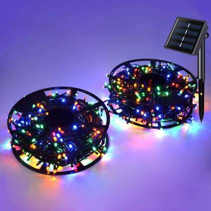 Two spools of Christmas string lights