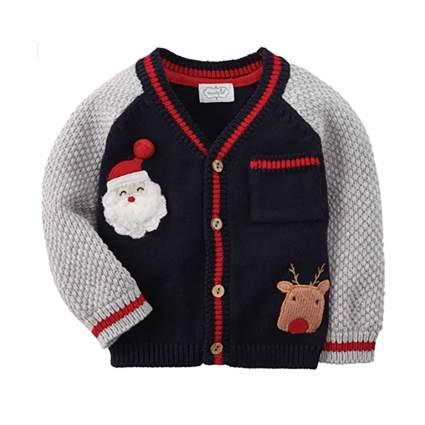 infant christmas cardigan