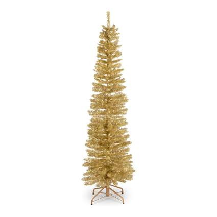 Gold pencil christmas tree