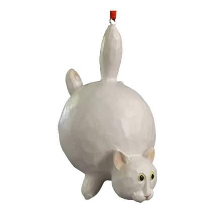 White fat cat ornament