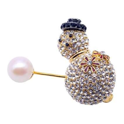 pearl snowman brooch