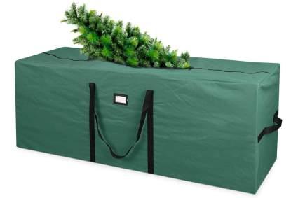 green christmas tree bag