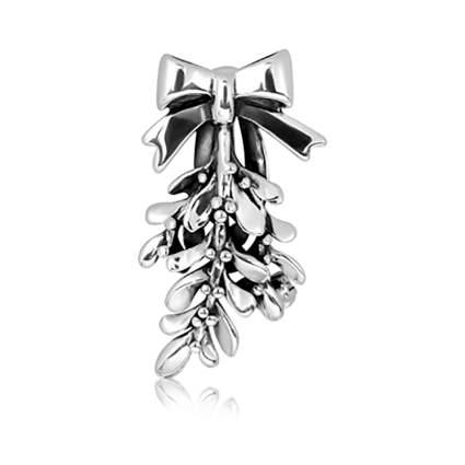 sterling silver mistletoe brooch