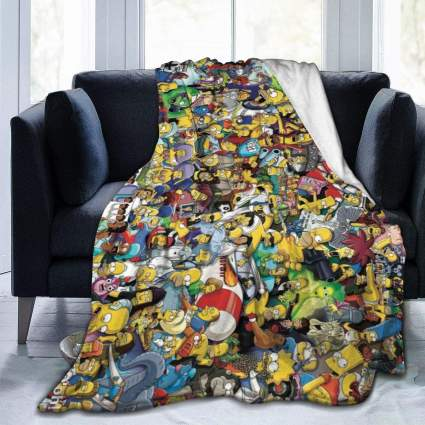 The Simpsons Throw Blanket