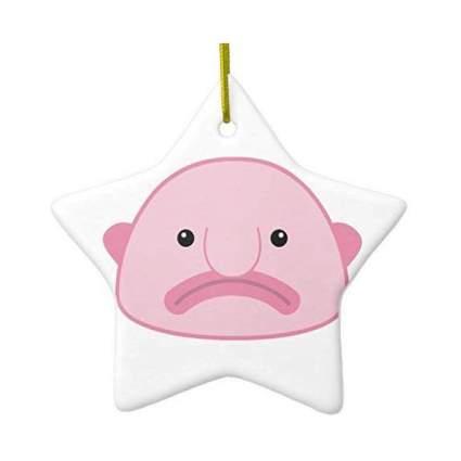 Pink blobfish ornament