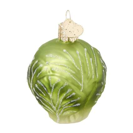 Glass brussel sprout ornament