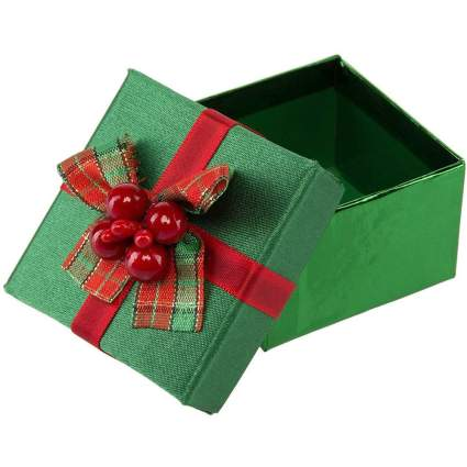 Green box with red bow