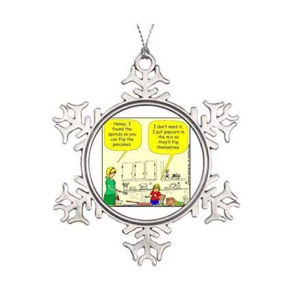 Snowflake ornament with comic
