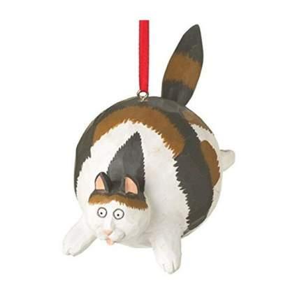 Very fat cat ornament