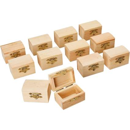 Tiny wooden treasure chests