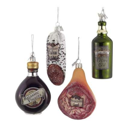 Italian food Christmas ornaments