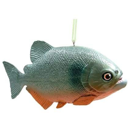 Piranha fish ornament