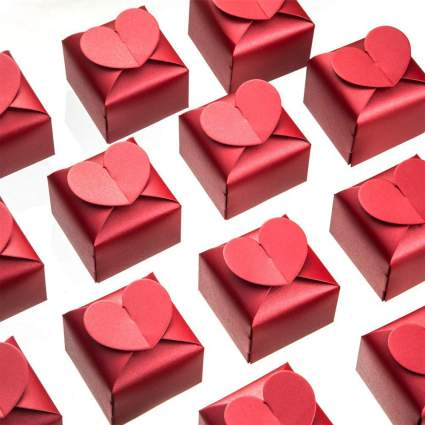 Red heart gift boxes