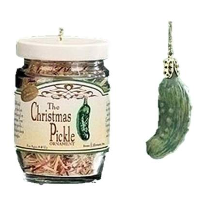Pickle and pickle jar ornaments
