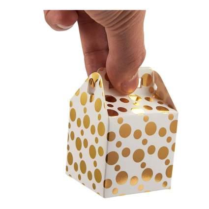 Mini gold and white gift box