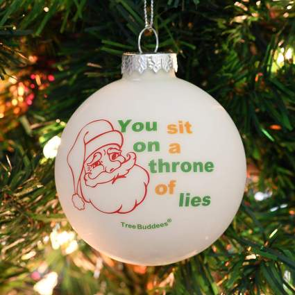 Christmas ornament with Elf quote