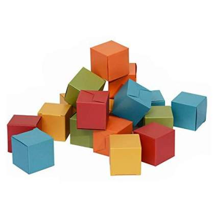 Small cubes in primary colors