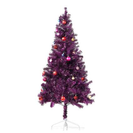 metallic purple christmas tree