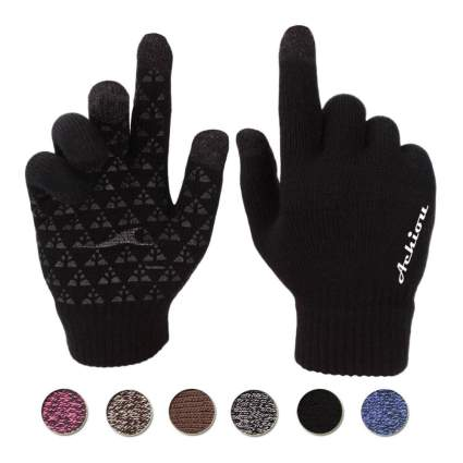 Achiou Winter Knit Touchscreen Gloves
