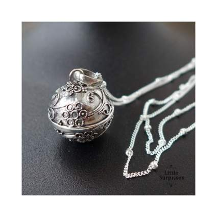 Bali Harmony Ball Sterling Silver Necklace