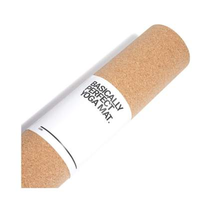 BASICALLY PERFECT Cork Yoga Mat with Natural Rubber