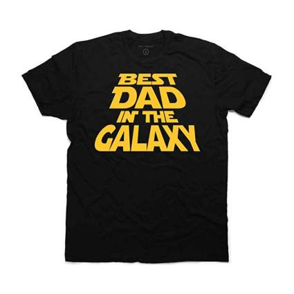 Best Dad in the Galaxy Star Wars T-Shirt