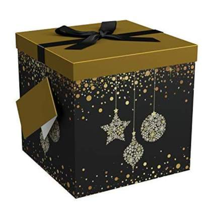 black and gold large gift box