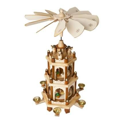 brubaker nativity three tier german christmas pyramid